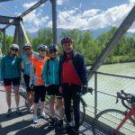 sur le pont du Rhône